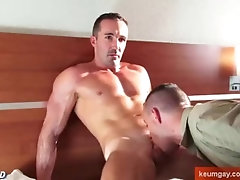 A hot sport dad gets sucked by young guy despite of him: Ben and Adam