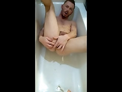 First Piss Video in Bathtub [: