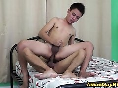 Pissing fetish twink cums after bareback anal sex