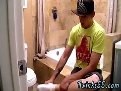 Hardcore gay Straight Boy Serviced In The Bathroom