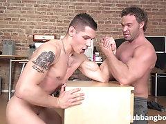 Fit Dudes vs Big Boys Arm Wrestling