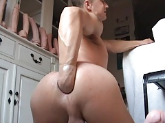 twink fucks huge dildos