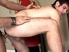 Master and his twink leather slave - Bareback Men