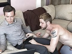 Step Brother Gets BJ While Working