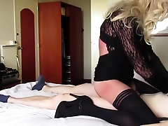 Mature blond tgirl fucked by boy - part 2
