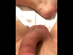 Edging to completion, shooting on sexy feet, foot fetish