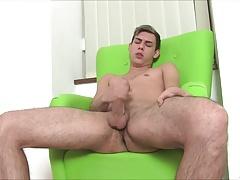 Thick Uncut Cock Masturbation