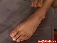 Pervy latino twink Alejandro presents his to lick for feet
