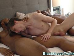 Twink gets double facial