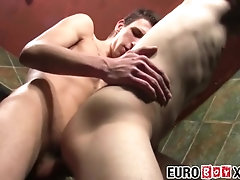 Innocent twinky bare fucked in restaurant toilette