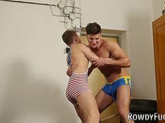 Wrestling twink sperms