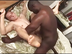 Str8 Musclar Boy Fucking First Twink's Asshole