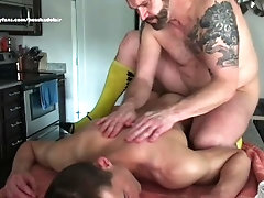 Oiled Up Muscle Hunk Daddy's Boy Massage Hairy Daddy Gives Sexy Stud Hot Nude Sensual Oil Massage