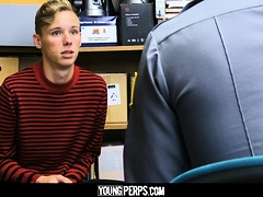 YoungPerps - Blonde Twink Fucked By Hung Security Guard