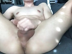 College Stud Plays With Twink Asshole and Big Cock