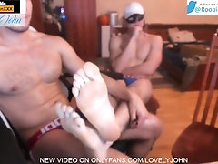 Tickling my Roomates big feet with FORK! lol ! can he handle it ?