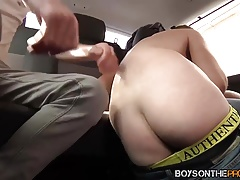 Adam Watson and his friends have butt piracy in the car