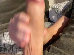 Twink jerking off his MASSIVE cock!