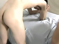 Gay dude enjoys a oral stimulation from his twink paramour