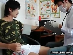 Doctor twink giving a nasty checkup