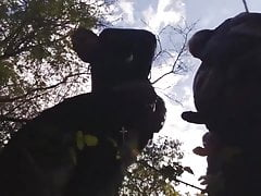 Dad fuck me in the woods