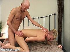 young cockteaser gets his crack plowed by old man segment