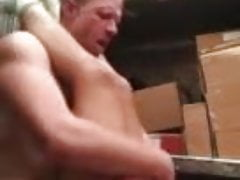 UPS driver fucks young assistant in the back of the truck