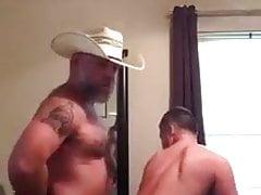 Cowboy daddy bear fucking his cub