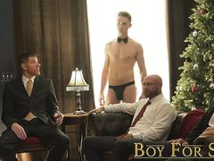 BoyForSale - Hairless twink virgins gangbanged by suited hung DILFs