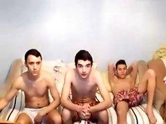 3 Gay Romanian Boys Suck Each Other Cock, Best Friends - Gaydudecams.com