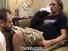 Gay pig slave sucks off lots of big cocks and licks dirty butt holes and gulps down piss butt fuck