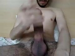 Young arab guy ending self suck cums
