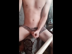Masturbating while my friend is in the bathroom, I want him