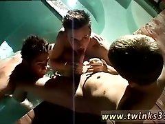 Free gay group oral porn photos Ayden, Kayden &amp_ Shane Smoke Sex