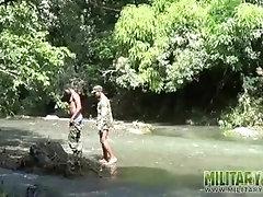Cornholing gay boys wet their cammies