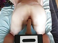 Dildo anal Riding