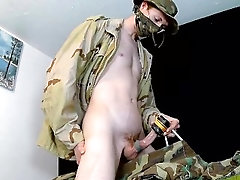 Uncut Footage of Me Fucking Colleagues Sex Toy, In a Military Uniform, Fantasizing About His Ass!