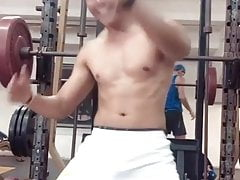 Mexican thug dancing in the gym