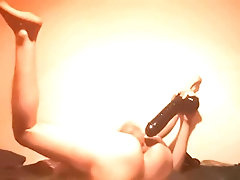 19yo Boy got his Tight Ass Hole Destroyed by 3 Huge Dildos