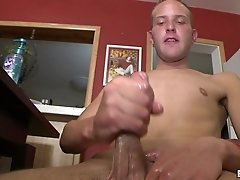 Lustful gay called TJ jerks his big weiner in his room
