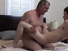Dad Breeds Straight Teenage Neighbor After Thick Cock BJ and Bubble Butt Rimming