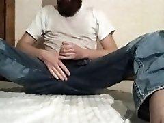 Piss masturbation no. 7 Piss in jeans