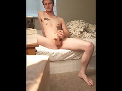 Had to stroke my huge cock, even if I cant cum in mirror